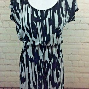 Forever 21 Black Gray Short Sleeve Dress Small